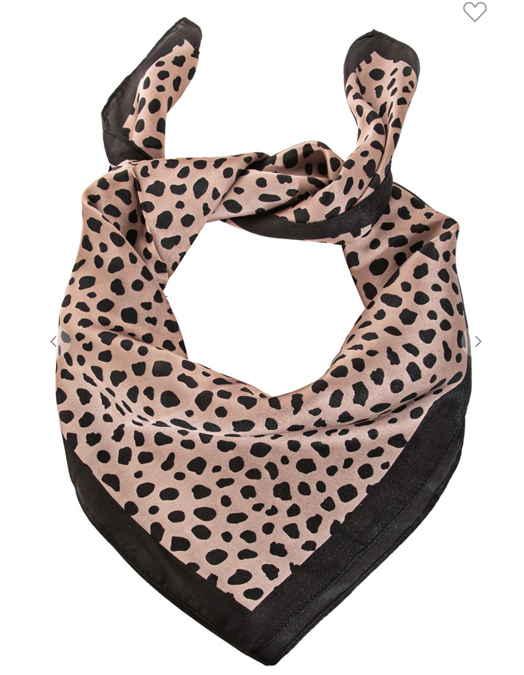 Spotted Animal Print Square Scarf