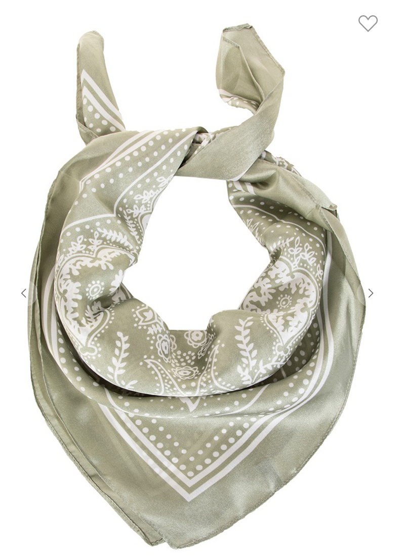 Lightweight Paisley Design Square Scarf