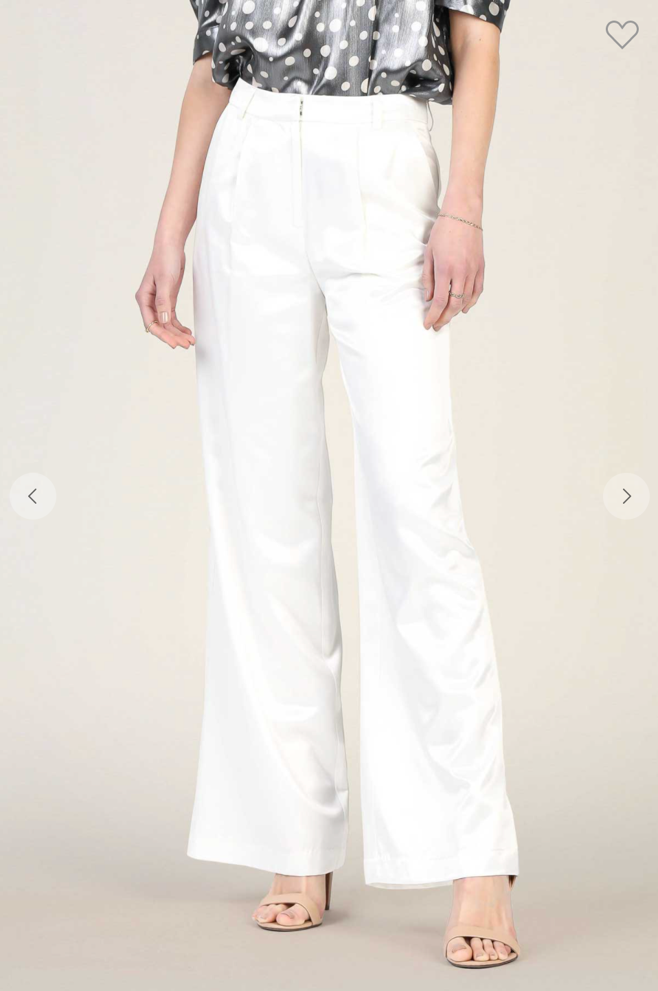 WIDE LEGGED FULL LENGTH PANTS