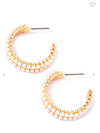 Double Row Studded Hoop Earrings