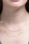 Brass LOVE Charm Necklace