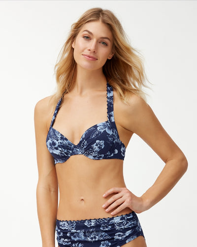 chambray blossom underwire bra size top