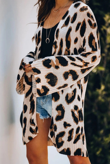 Lightweight Knit Leopard Cardigan