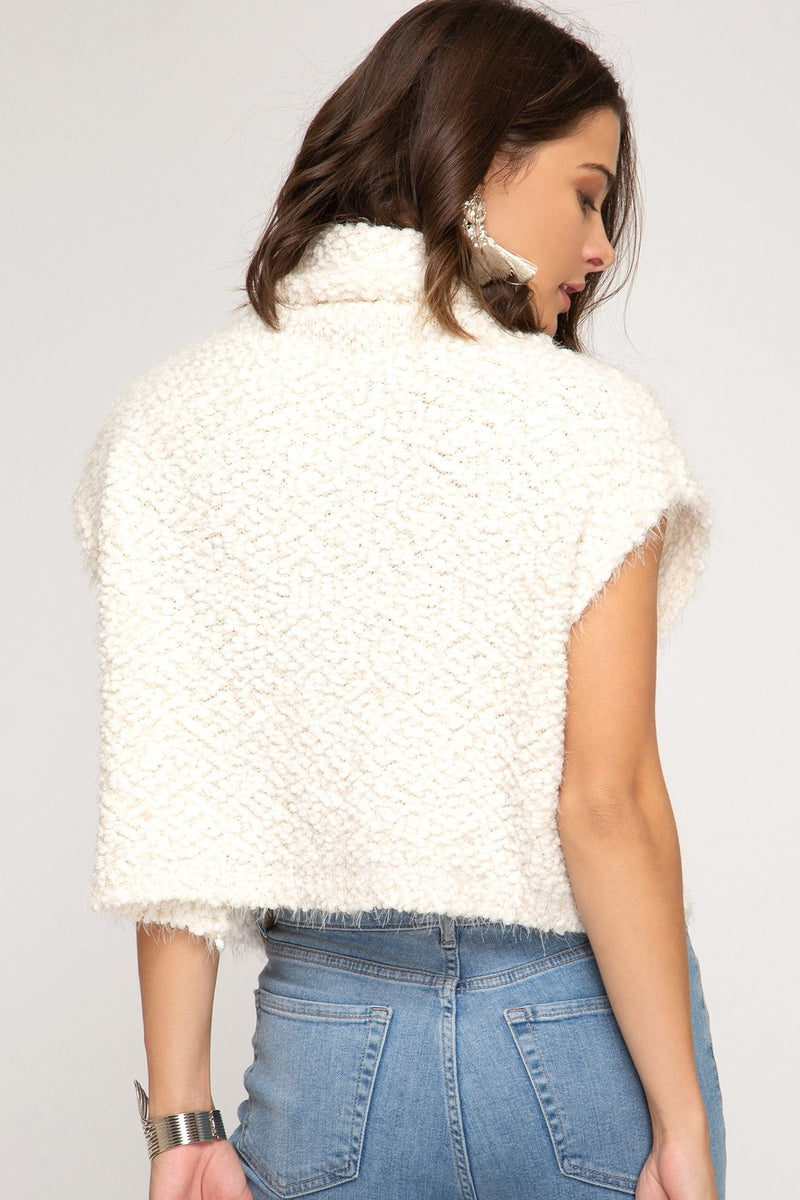 Super Soft Cropped Popcorn Sweater