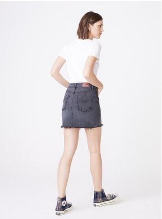 Nico Grunge Denim Skirt