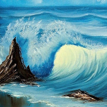 Load image into Gallery viewer, Large Vancouver BC Beach Waves Painting -  Oil on Canvas Canadian Seascape by Vancouver Island artist Robbie Stroud.