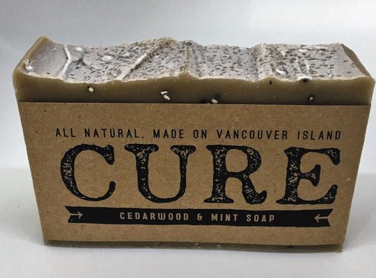Cure Natural Soap Bars - Cedarwood & Mint