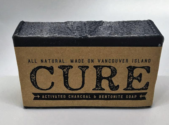 Cure Natural Soap Bars - Activated Charcoal & Bentonite