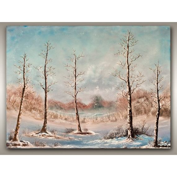 Large Oil on Canvas Winter Snow Painting - Original West Coast Art by Vancouver Island artist Robbie Stroud.