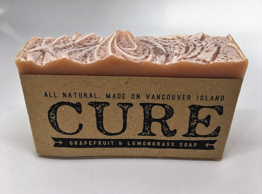 Cure Natural Soap Bars - Grapefruit & Lemongrass