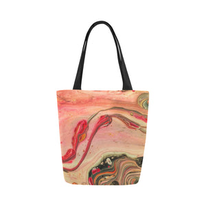 Canvas Fine Art Tote Bag - Native Peach Cobbler, by West Coast Artist, Pattiann Withapea
