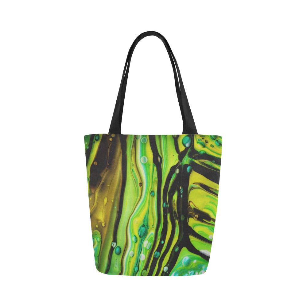 Canvas Fine Art Tote Bag - Stick Man, by West Coast Artist, Pattiann Withapea