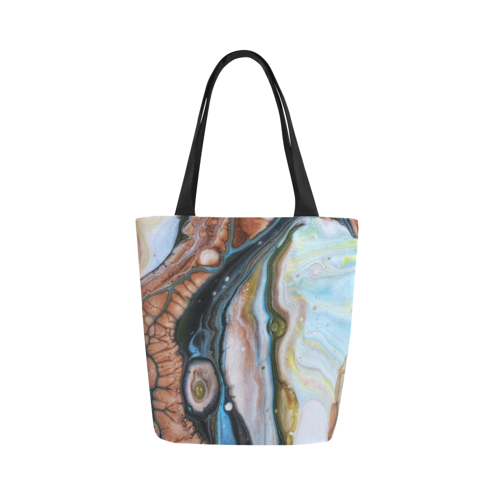 Canvas Fine Art Tote Bag - Dot Calm, by West Coast Artist, Pattiann Withapea
