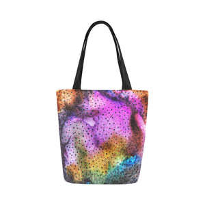 Canvas Fine Art Tote Bag - Dot Dot Run, by West Coast Artist, Pattiann Withapea