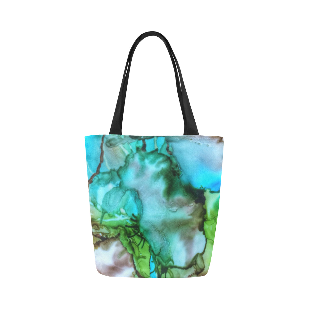 Canvas Fine Art Tote Bag - Earth Tones, by West Coast Artist, Pattiann Withapea