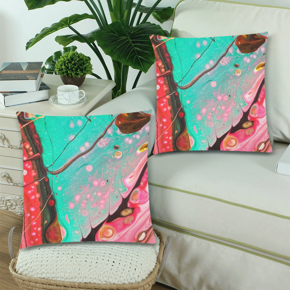 Custom Designer Pillow Covers - Turq Vee
