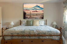 Load image into Gallery viewer, Large Mountain Oil on Canvas Painting - Vancouver Island BC Landscape during Canadian Winter by RobbARTBoutique