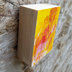 Small Wood Block Painting: Colour Blast