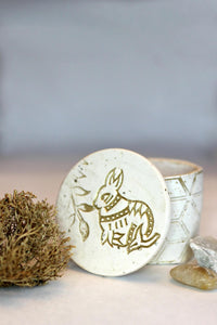 Polymer Clay bunny keepsake jewelry box