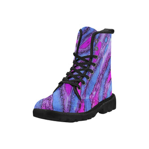 Custom Designed Combat-Style Boots - Liverpudlilynn, by West Coast Artist, Pattiann Withapea