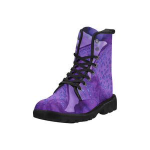 Custom Designed Combat-Style Boots - Blueberry PI, by West Coast Artist, Pattiann Withapea