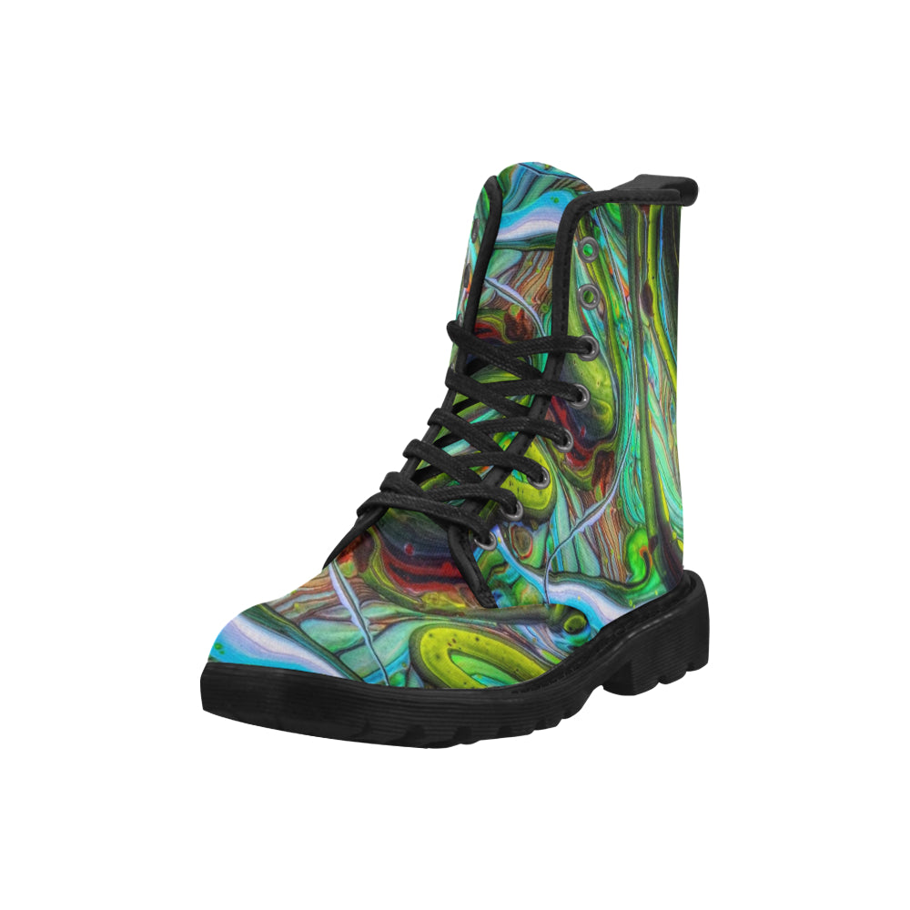 Custom Designed Combat-Style Boots - Daliance, by West Coast Artist, Pattiann Withapea