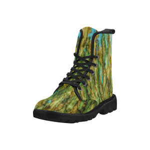 Custom Designed Combat-Style Boots - Kelp-Ish, by West Coast Artist, Pattiann Withapea