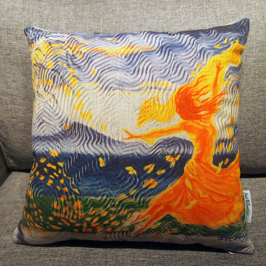 Printed Pillow Cover - Dancer in Wind