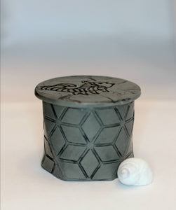 Hexagon Animal Keepsake Trinket Box