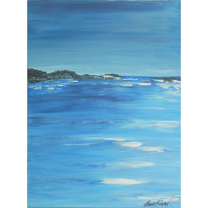 "Acrylic landscape painting entitled ""Moody Blues"". Painted by West Coast artist, Brent Raddysh"