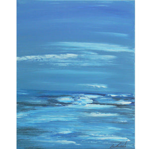 "Acrylic landscape painting entitled ""Moonlit Inlet"". Painted by West Coast artist, Brent Raddysh"