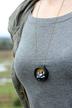 Load image into Gallery viewer, Hexagon Mountain Diorama Necklace