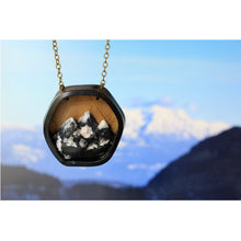 Load image into Gallery viewer, Hexagon mountain necklace