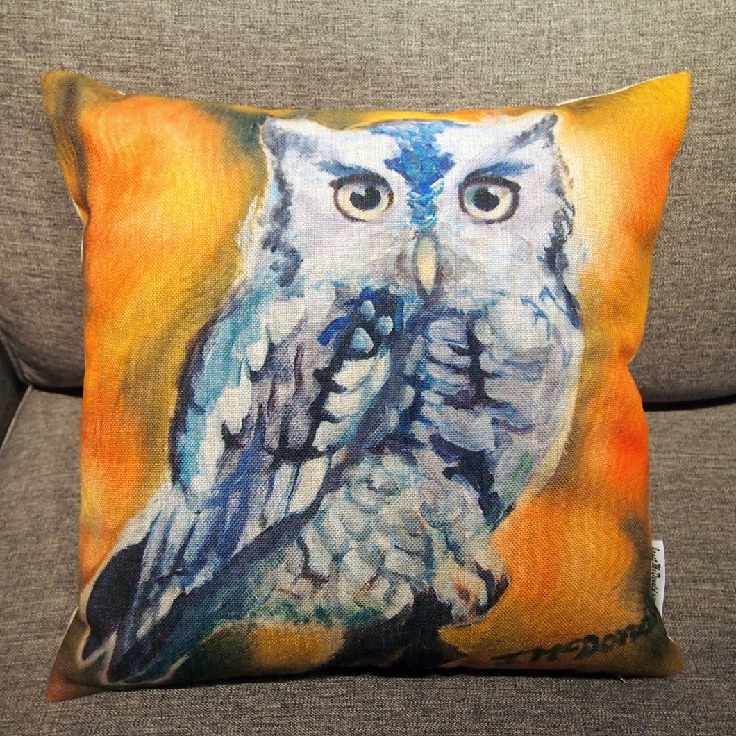 Printed Pillow Cover - Screech Owl