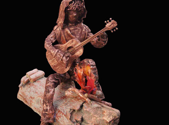 "Guitar Player - ""Serenade"" Sculpture from West Coast Artisan Gallery"