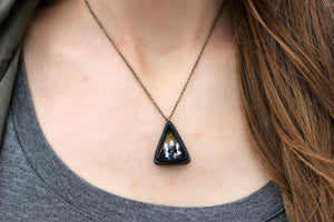 Small Triangle Mountain Diorama Necklace