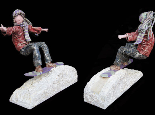 """Catching Air"" - Snowboarder - Sculpture - West Coast Artisan Gallery"