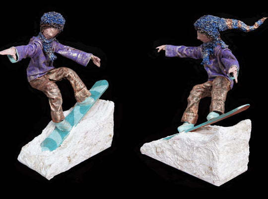 """Powder"" - Snowboarder - Sculpture from West Coast Artisan Gallery"