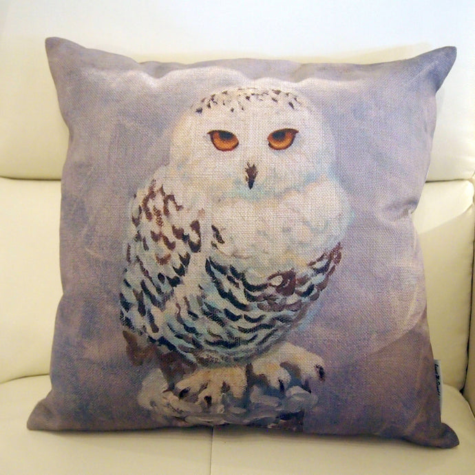 Printed Pillow Cover - Snowy Owl