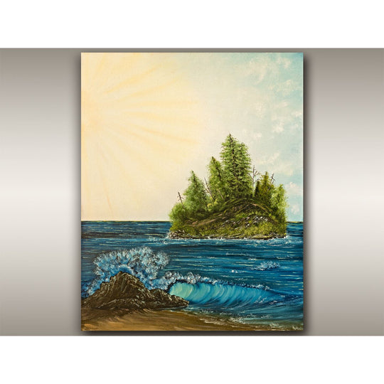 Tofino Beach Wave Perfection oil painting by Robbie Stroud