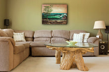 Load image into Gallery viewer, West Coast oil painting of summer crashing waves landscape by Robbie Stroud