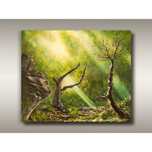 Load image into Gallery viewer, Oil painting of a Vancouver Island forest landscape by West Coast artist Robbie Stroud.