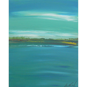 "Acrylic landscape painting entitled ""Tranquil Bay"". Painted by West Coast artist, Brent Raddysh"
