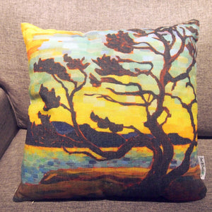 Printed Pillow Cover - Wind Blown Tree