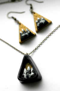 Triangle Mountain Earrings