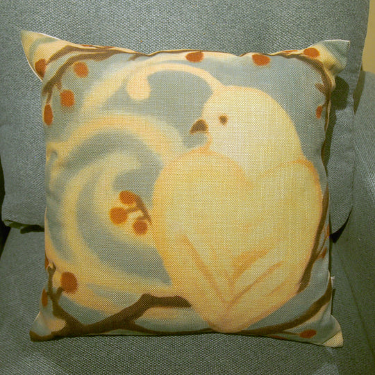 Printed Pillow Cover - Winter Quail