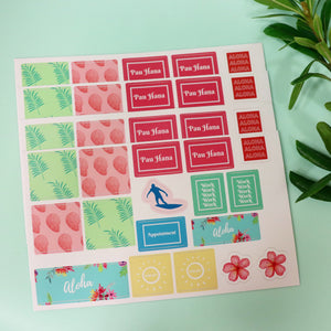 Hawaiian Summer Planner Sheet
