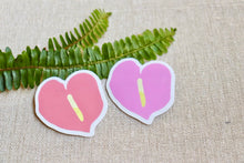 Load image into Gallery viewer, Anthurium - Mini Pack of 2 Stickers