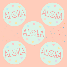 Load image into Gallery viewer, Aloha Day Sticker Pack (10 Mini Vinyl Stickers)