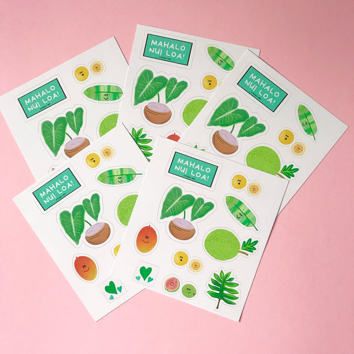 Happy Hawaiian Fruit Sticker Sheets
